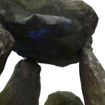 The blue patch on the texture was caused by the use of flash inside the dolmen.